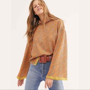 FREE PEOPLE $98 Sunny Days Turtleneck Top Pullover